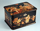 Fine Antique Japanese Black Lacquer Tea Caddy