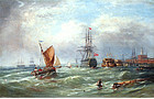 """The Old Ship Victory"" by Ebenezer Colls (Br., b. 1812)"