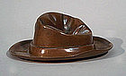 Antique Bronze Paperweight in the form of a Fedora Hat