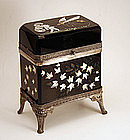 Metal Mounted Black Glass Dresser Box