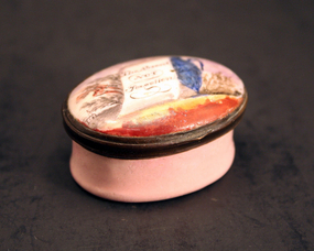 18th-century English Enamel Patch Box
