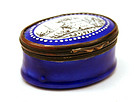 "19th-century French Enamel Box, ""Memoire d"