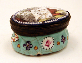 "English 18th-century Enamel Box, ""A Reward for Merit"""