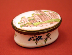 "18th-century Enamel Box, ""A Trifle from Blockley"""