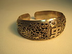 Early 20th C. Chinese Silver Dragon Bangle