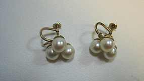 Beautiful Cultured Pearl Earrings