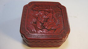 A Beautiful 19th C. Chinese Red Lacquer Box