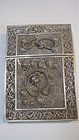 A Late 19th C. Chinese Silver Filigree Card Case