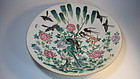 19th C. Chinese Famille Rose Porcelain Large Plate