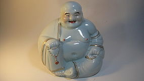 Early 20th C. Chinese White Porcelain Buddha Marked