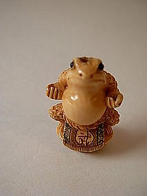 A Beautiful Japanese miniature Ivory Netsuke