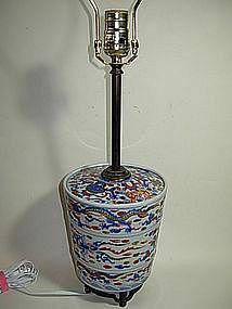 Old Japanese Imari lamp
