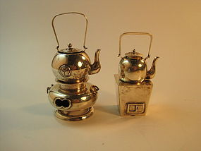 Early 20th C. Japanese Miniature Sterling Silver Teapot