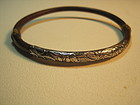 A Beautiful Chinese Silver Rattan Bangle