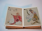 Early 20th C. Chinese Hand Painted Water Color Monks