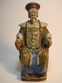 19th C. Chinese Qing Dynasty Emperor Mudman