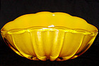 RARE Murano BARBINI Yellow Gold Flecks Bowl + Lbl