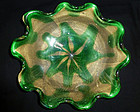 Murano SEGUSO Flower Design GOLD FLECKS Center Bowl