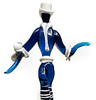 Murano ZECCHIN MARTINUZZI Cobalt Blue DANCER Figurine