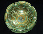 Murano BAROVIER TOSO Gold Flecks Optic Swirl Ashtray