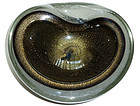 BARBINI SEGUSO Murano BLACK Gold Flecks PULEGOSO Bowl