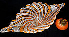 FRATELLI TOSO Murano ZANFIRICO Orange Centerpiece Bowl