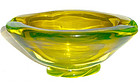 SALVIATI Murano VASELINE URANIUM Glass Bowl W/ Label