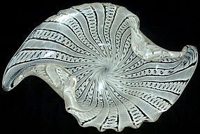 FRATELLI TOSO Murano ZANFIRICO Ribbons Centerpiece Bowl
