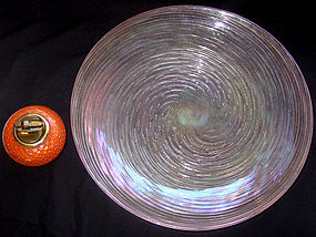 Murano PINK IRIDESCENT Gold Flecks Center Bowl