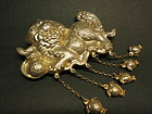 Antique Chinese gilt silver Qi Ling