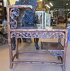Chinese Tiered Hardwood side tea table