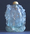 An aquamarine snuff bottle