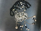 Chinese antique silver Qiling pendant necklace