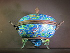 Cloisonne enamel covered tripot