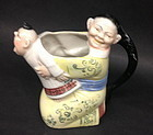 German Porcelain of a Chinese Mandrain creamer teapot