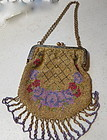 Vintage French beaded purse in 1920
