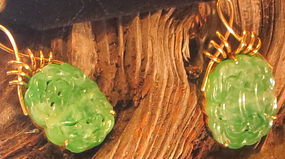 Apple green jadeite earrings