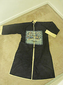 Manchu Noble woman fur winter robe with rank badges