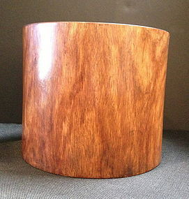 Large Huanghua Li wood Brush holder pot