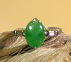 Beautiful jadeite white gold and diamond ring