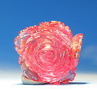 Chinese carved tourmaline rose (un drilled) pendant