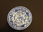 Asian blue and white porcelain dish