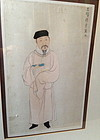 A Chinese painting of a scholar ink on paper