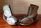 Rare antique Chinese silk boots