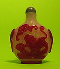 Large antique Peking glass snuff bottle