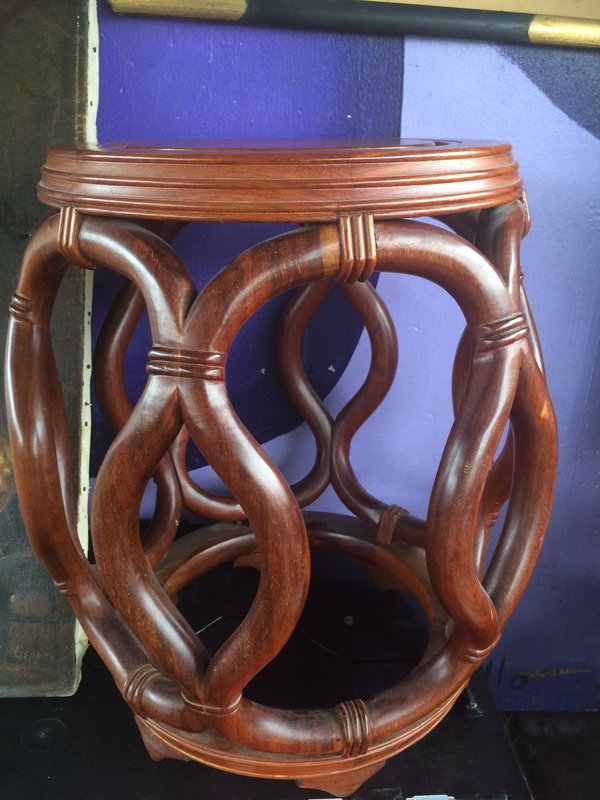 Chinese rosewood drum shape stool