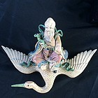 Chinese wall decoration of Wise Man on flying Crane