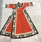A Chinese Manch court lady's robe