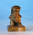 Chinese antique Foo Dog bronze seal