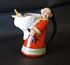 German whimsical porcelain Chinese man and goose creamer